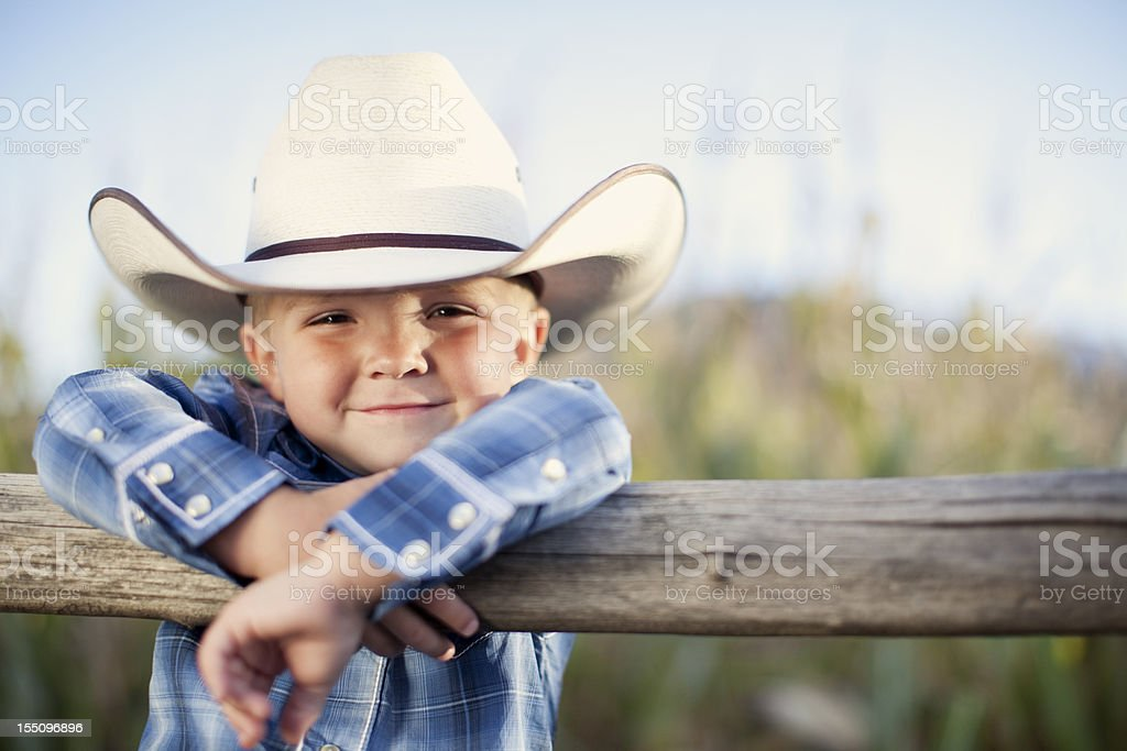 Little Cowboy stock photo