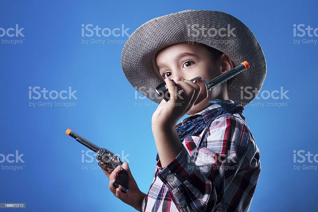 Little Cowboy royalty-free stock photo