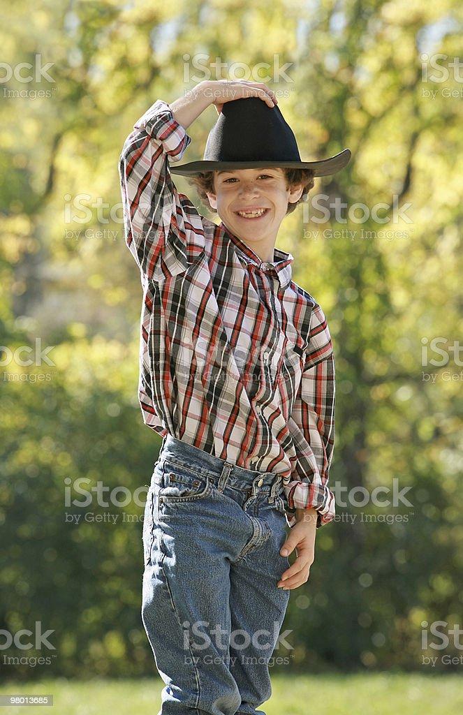 Little Cowboy royalty free stockfoto