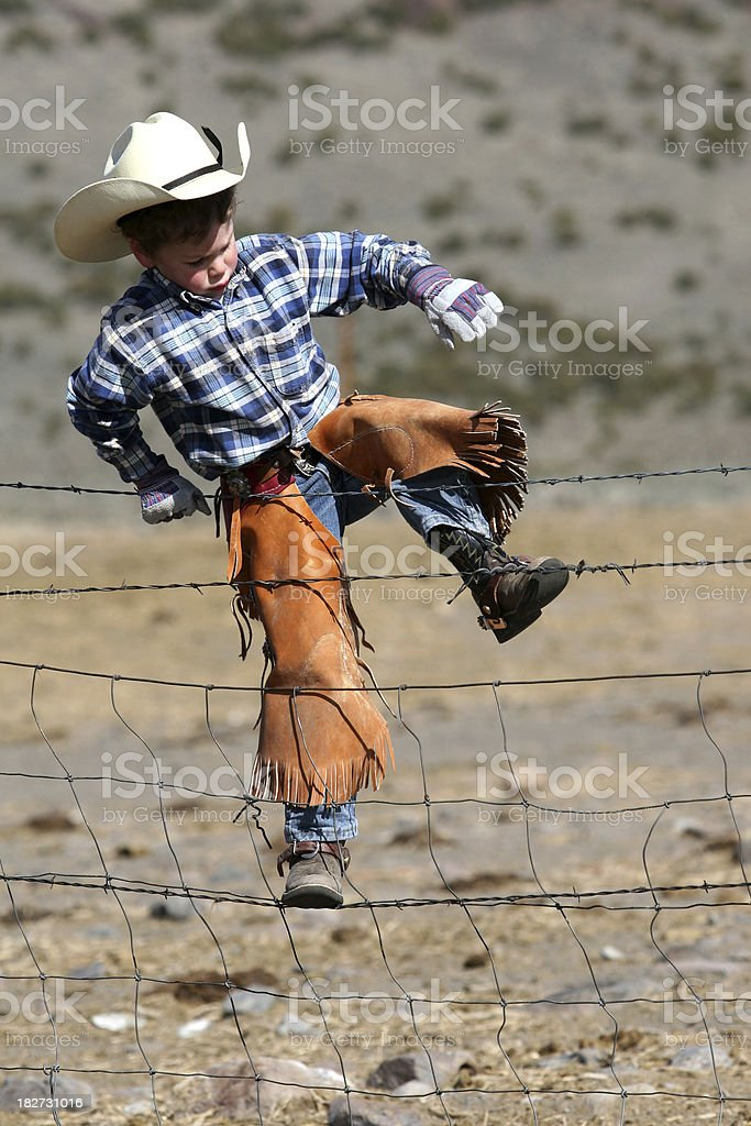 Little cowboy working royalty-free stock photo