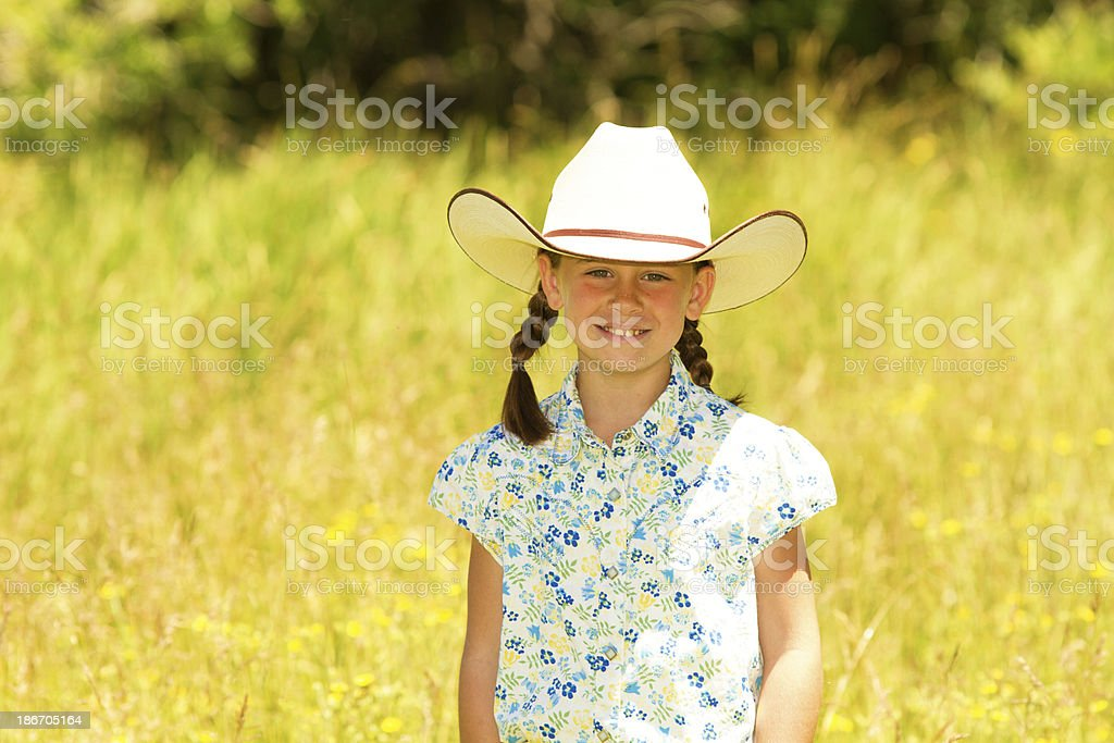 Little cowgirl royalty-free stock photo