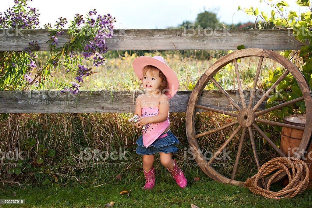 Little Cowgirl - foto de stock