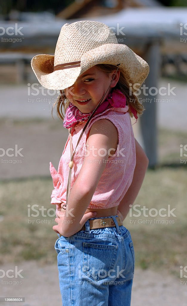 Little Cowgirl with Attitude - Eye stock photo