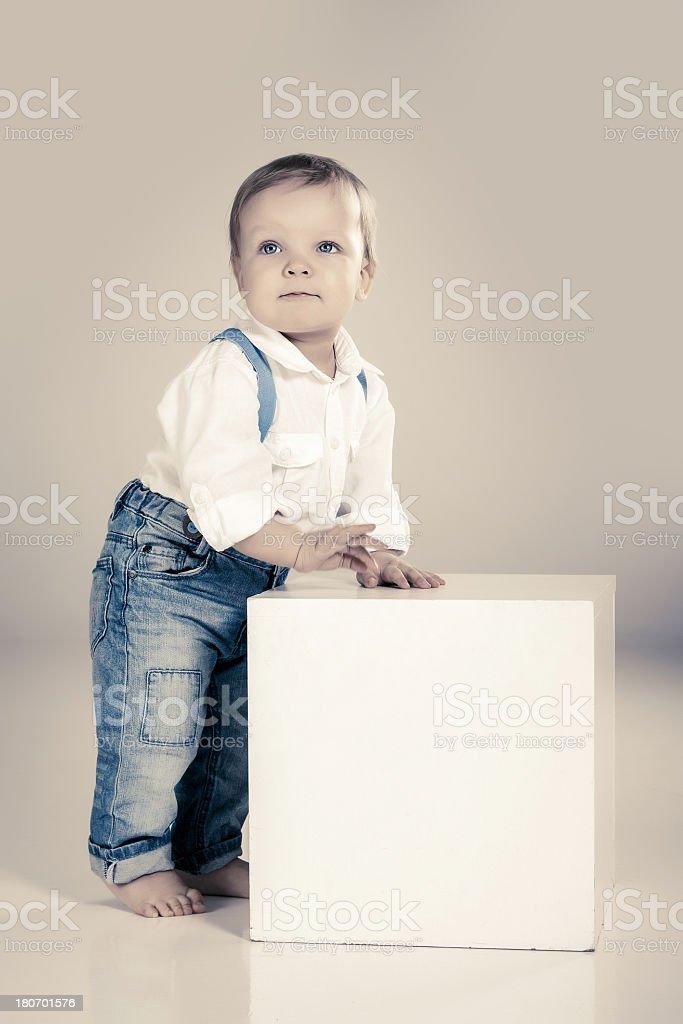Little cute boy royalty-free stock photo