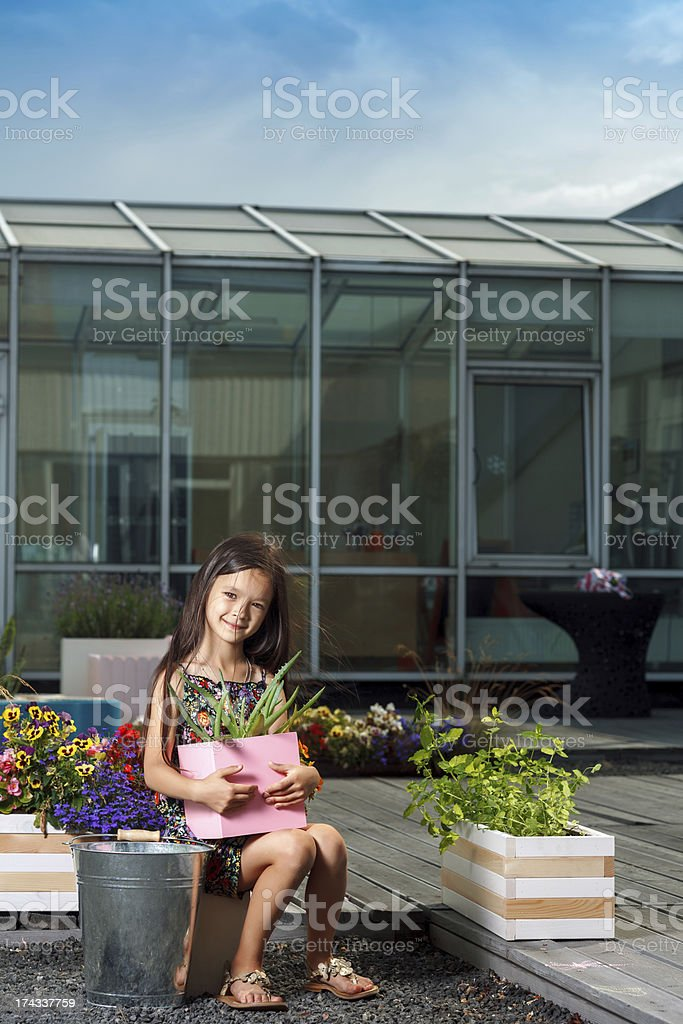 Little cute girl royalty-free stock photo