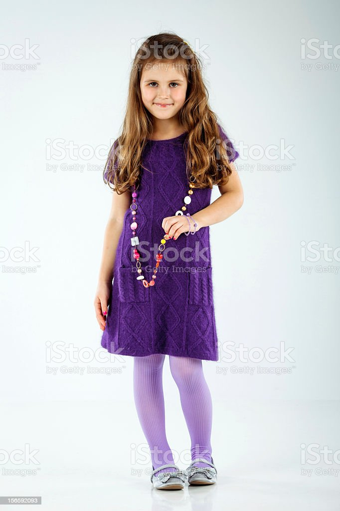 Little cute girl posing royalty-free stock photo