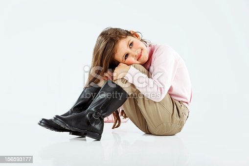 istock Little cute girl posing 156593177
