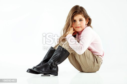 istock Little cute girl posing 156593482