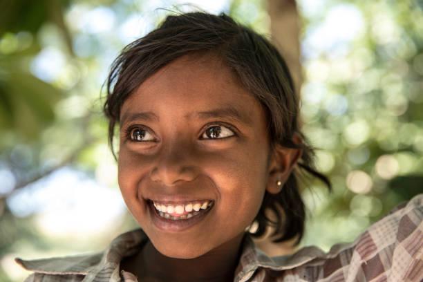 Little Cute Indian Girl Portrait stock photo