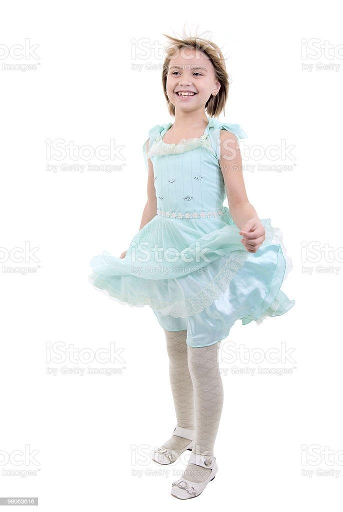 Little Dancing Girl. royalty-free stock photo