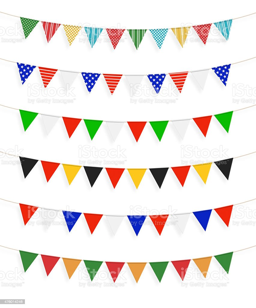Little different flags, white background stock photo