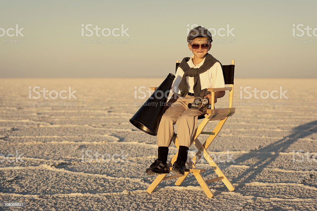 Little Director stock photo