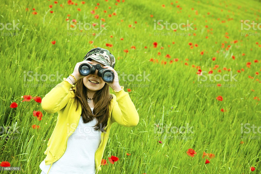 Little discovery explorer royalty-free stock photo