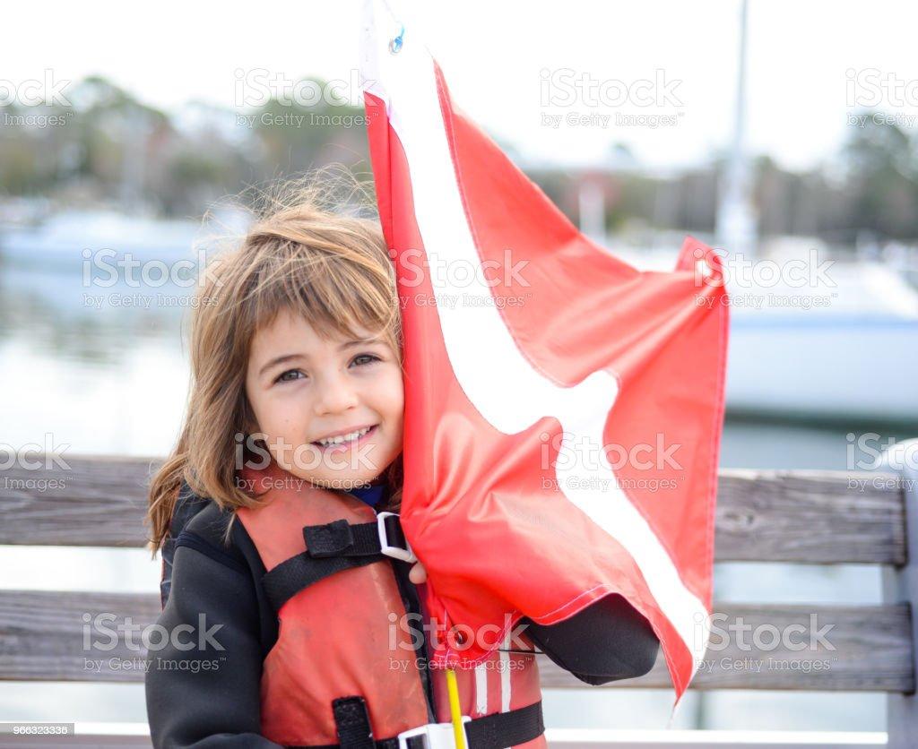 Little Diver stock photo