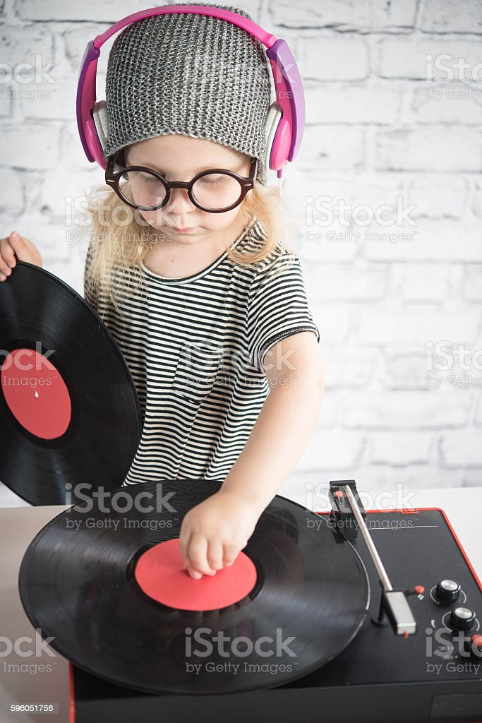 Little DJ royalty-free stock photo