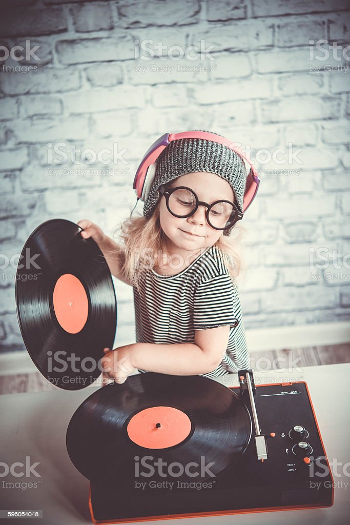 Little DJ stock photo