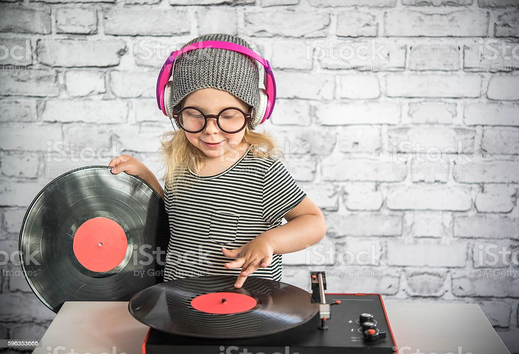 Little DJ royalty-free stock photo