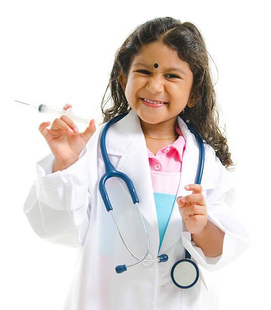 Little doctor stock photo