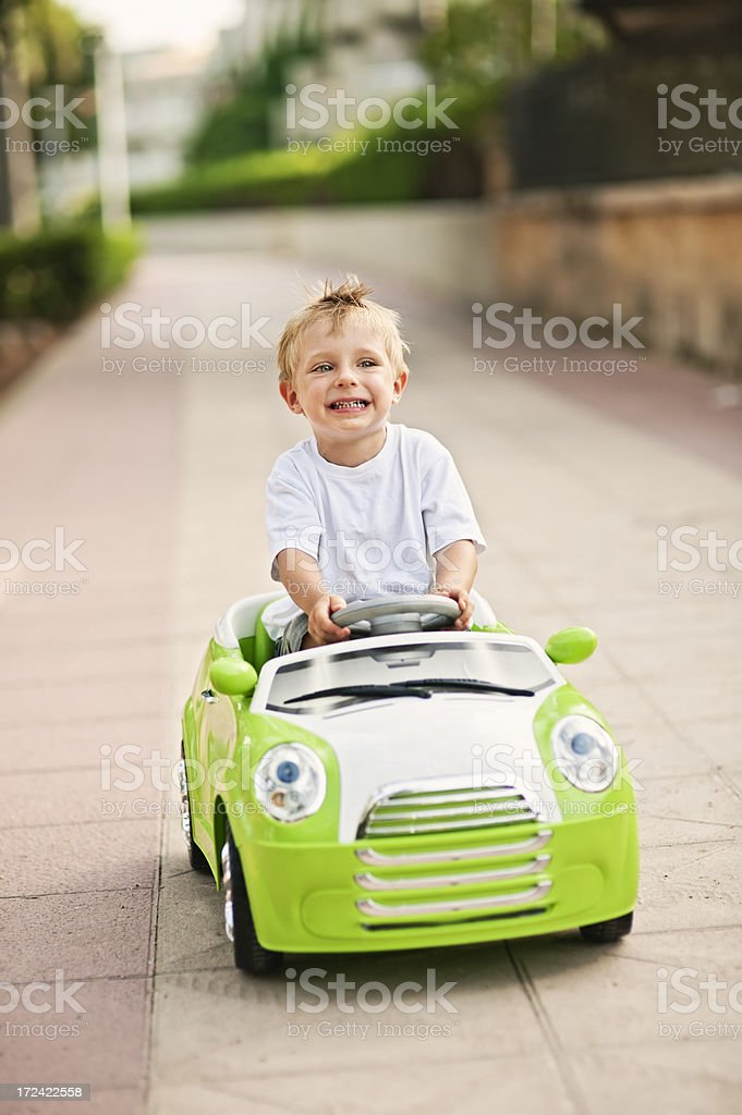 Little driver stock photo