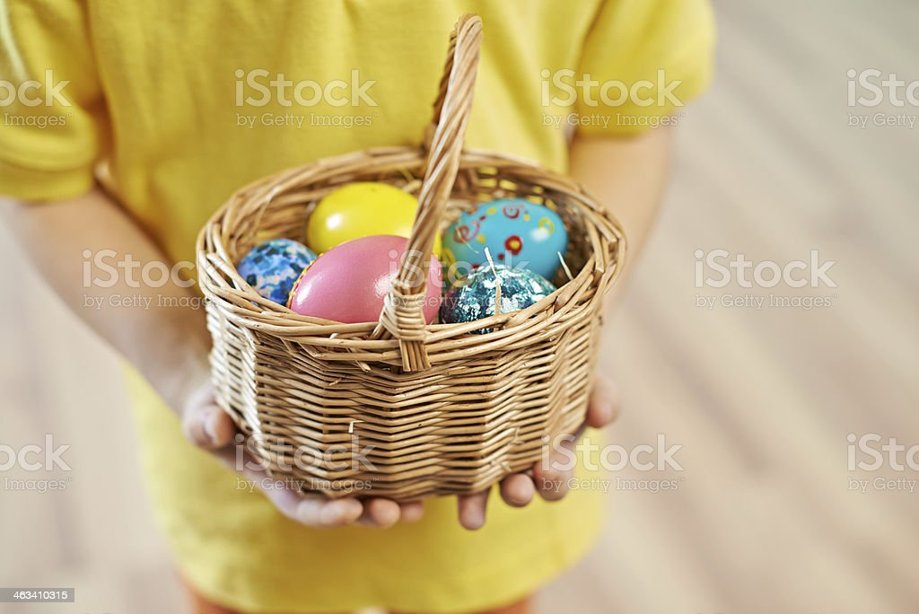 Little Easter basket royalty-free stock photo