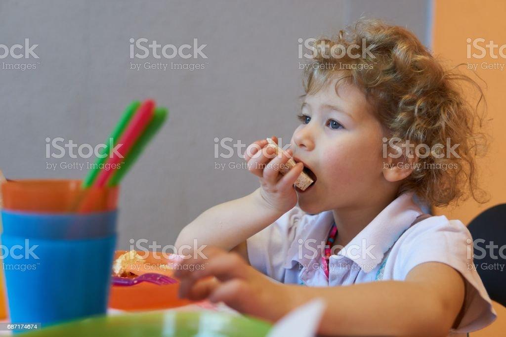 Little Eats Rice Cake stock photo