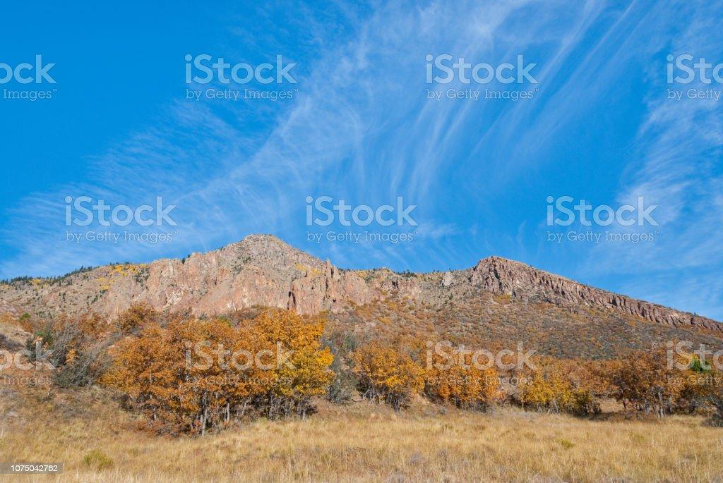 Little Elden Meadows in the Fall stock photo