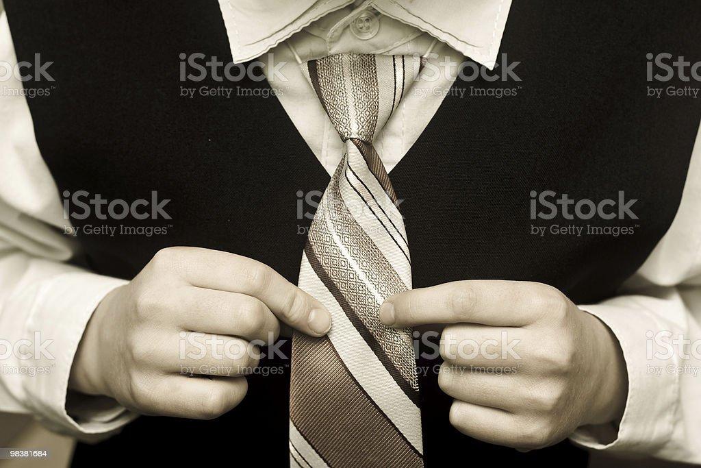 Ragazzo elegante con una cravatta foto stock royalty-free
