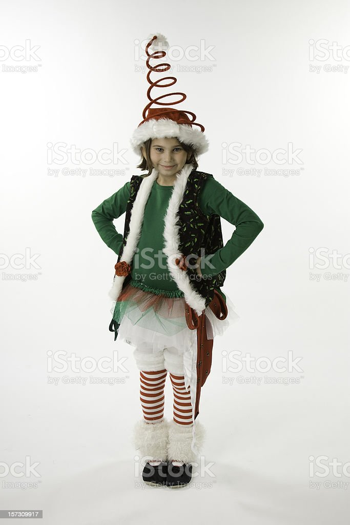 48dfcb01d8f Little Elf With Bouncy Hat Stock Photo   More Pictures of Bouncing ...