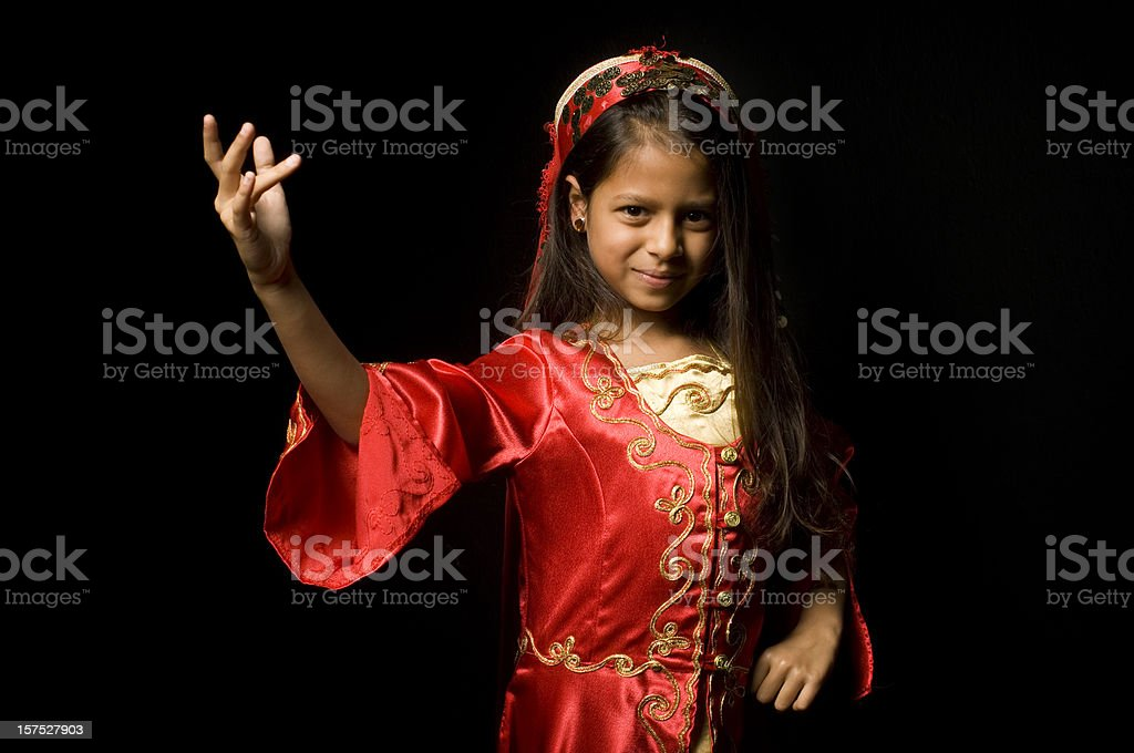 Little ethnic dancer royalty-free stock photo