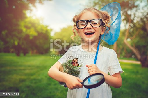 Little girl with a butterfly