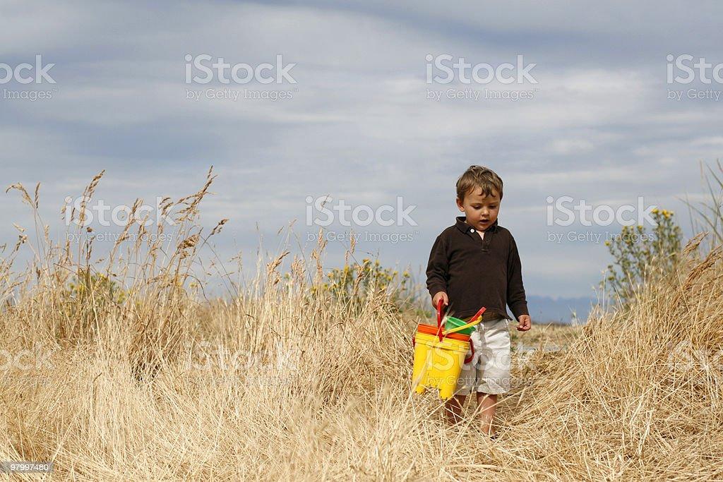 Little Explorer royalty free stockfoto