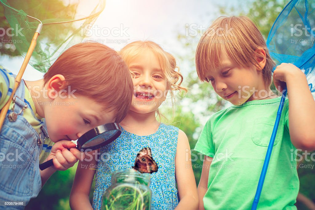 Little explorers stock photo