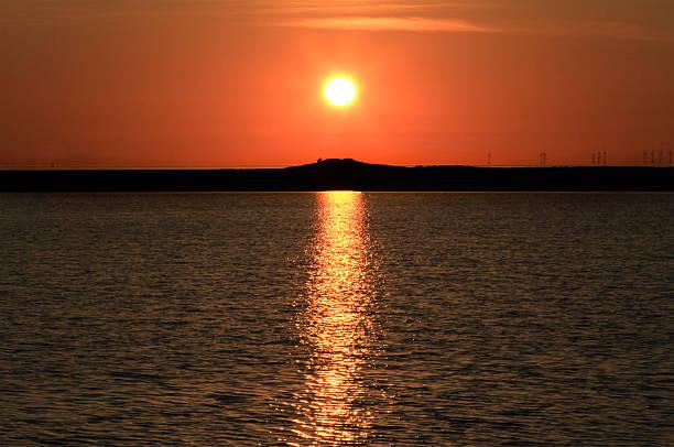 Little Eye Sunset stock photo