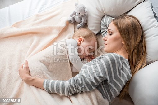 istock Little family reposing at home 900589316