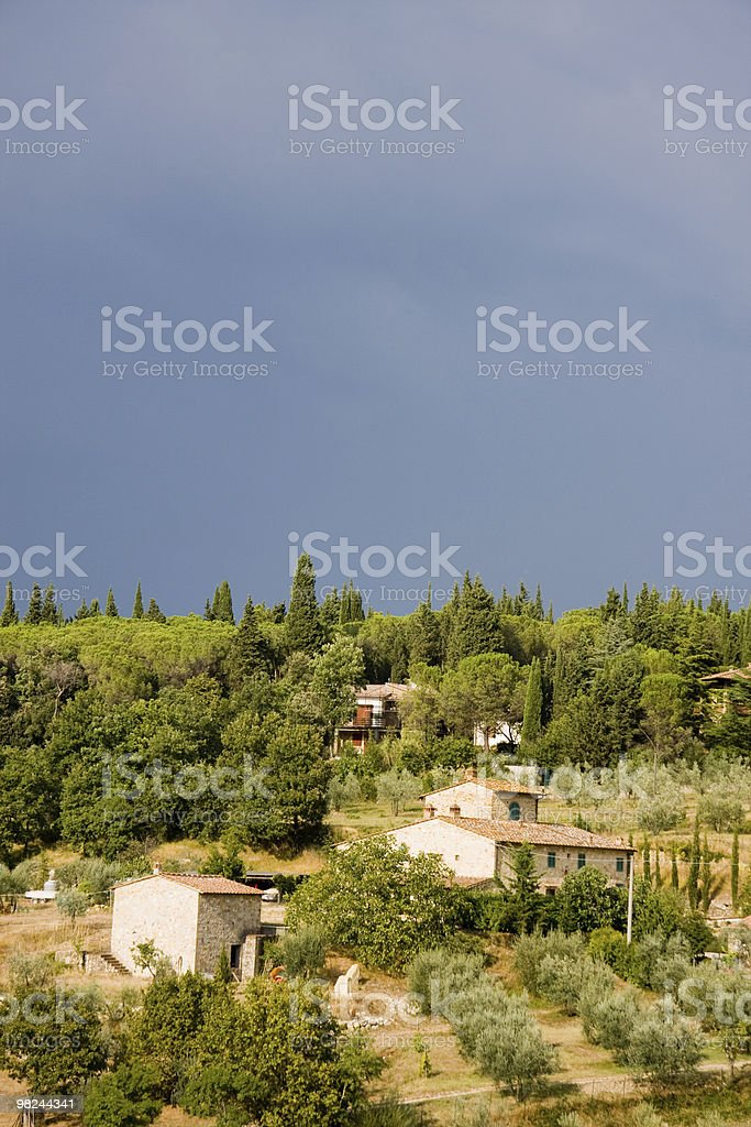 Little Farm in Tuscany royalty-free stock photo