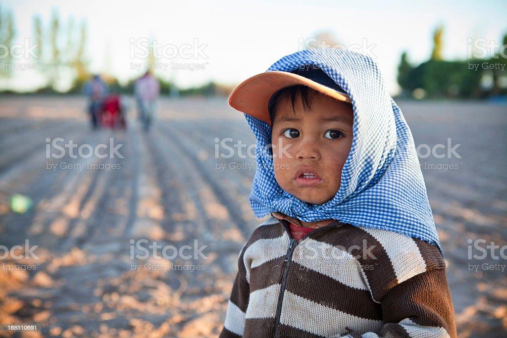 Little farmer stock photo