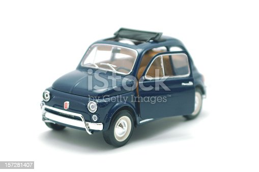 a little toy of italian car isolated on white background