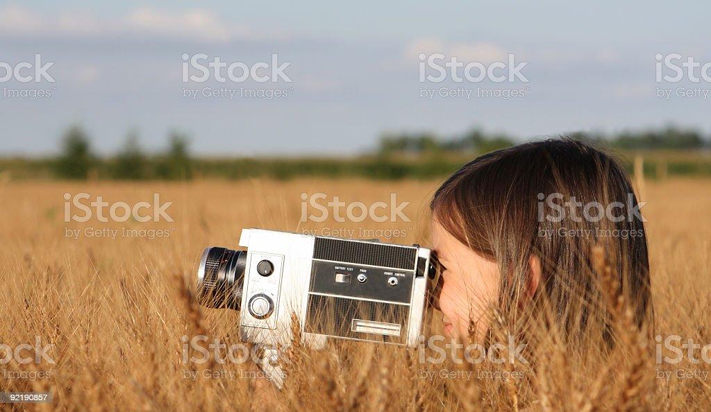 Little film maker stock photo