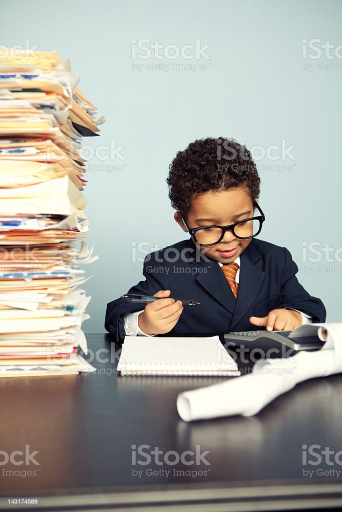 Little Financial Advisor royalty-free stock photo