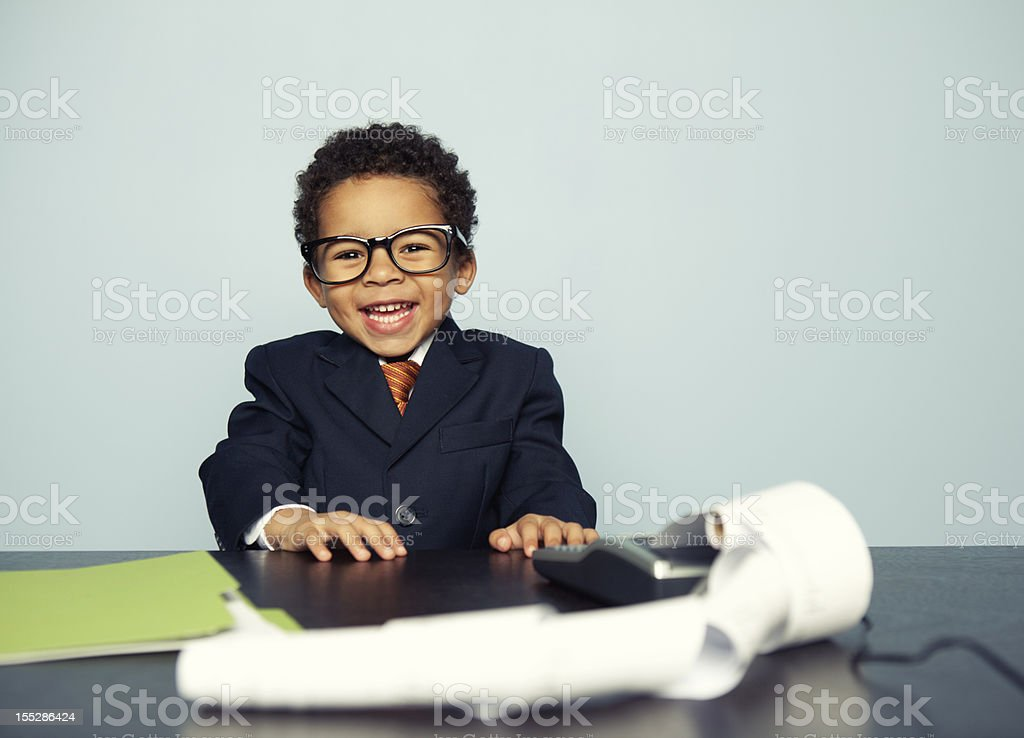 Little Financial Advisor Lizenzfreies stock-foto