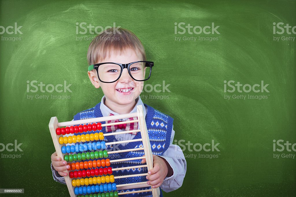 Little Financial Advisor stock photo