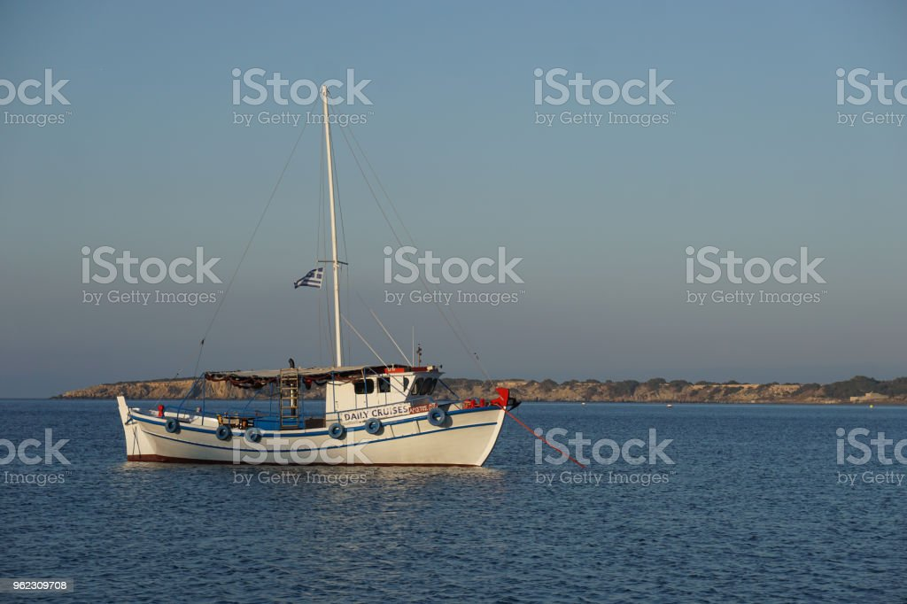 Little fishing boat stock photo