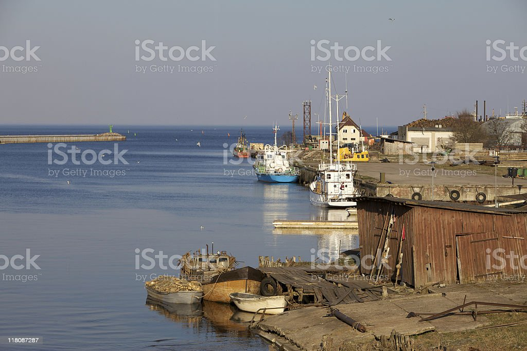 Little fishing village royalty-free stock photo