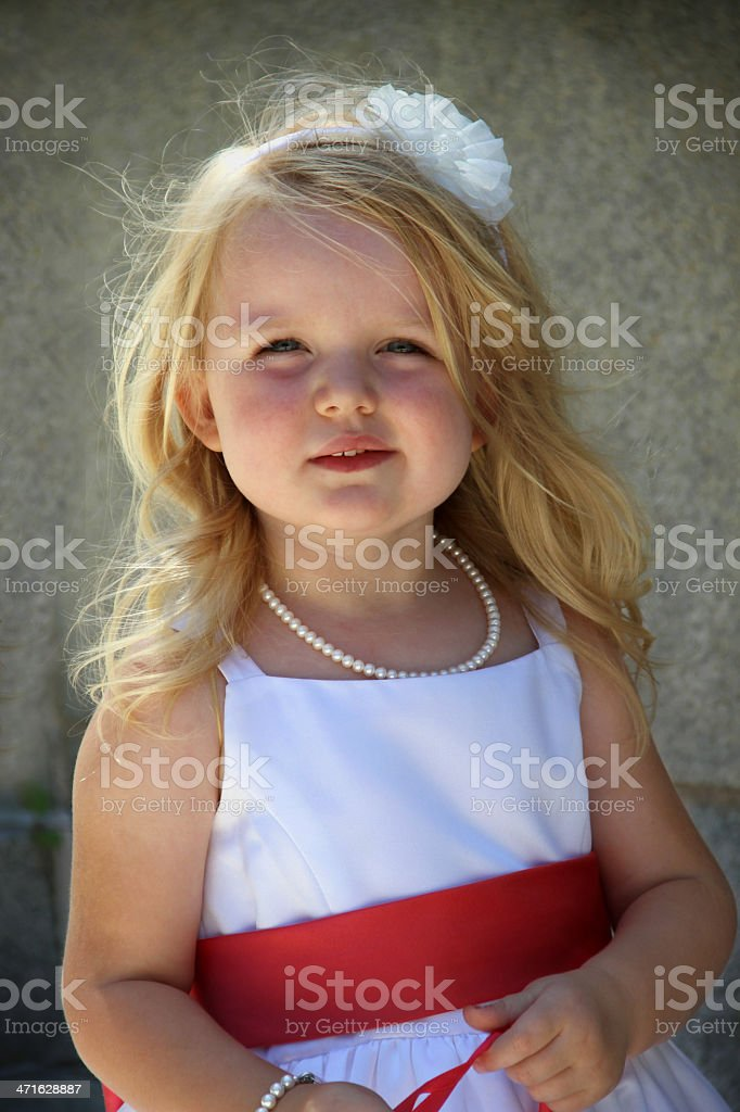 Little Flower Girl royalty-free stock photo