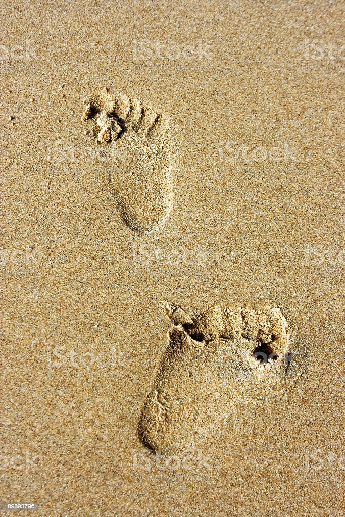 Little footsteps in the sand royalty-free stock photo