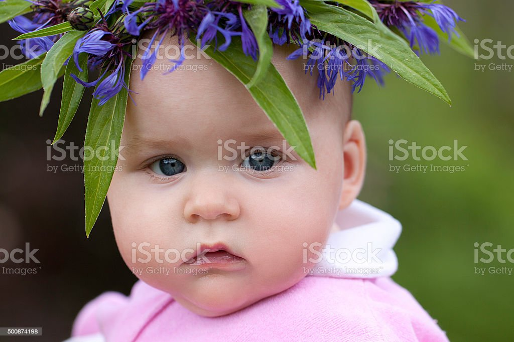 Little forest nymph stock photo