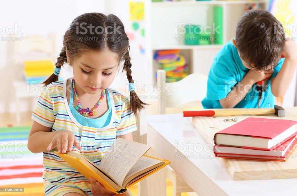 little friends in a kindergarten royalty-free stock photo