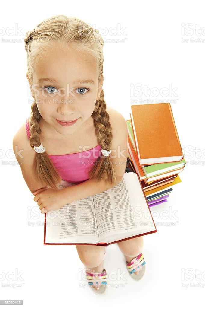Little funny schoolgirl royalty-free stock photo