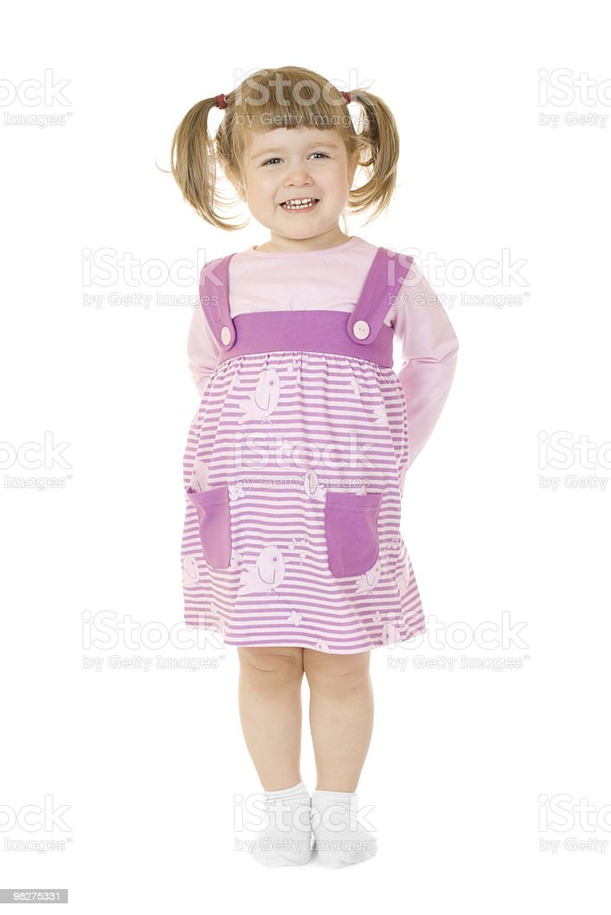 Little funny standing girl royalty-free stock photo