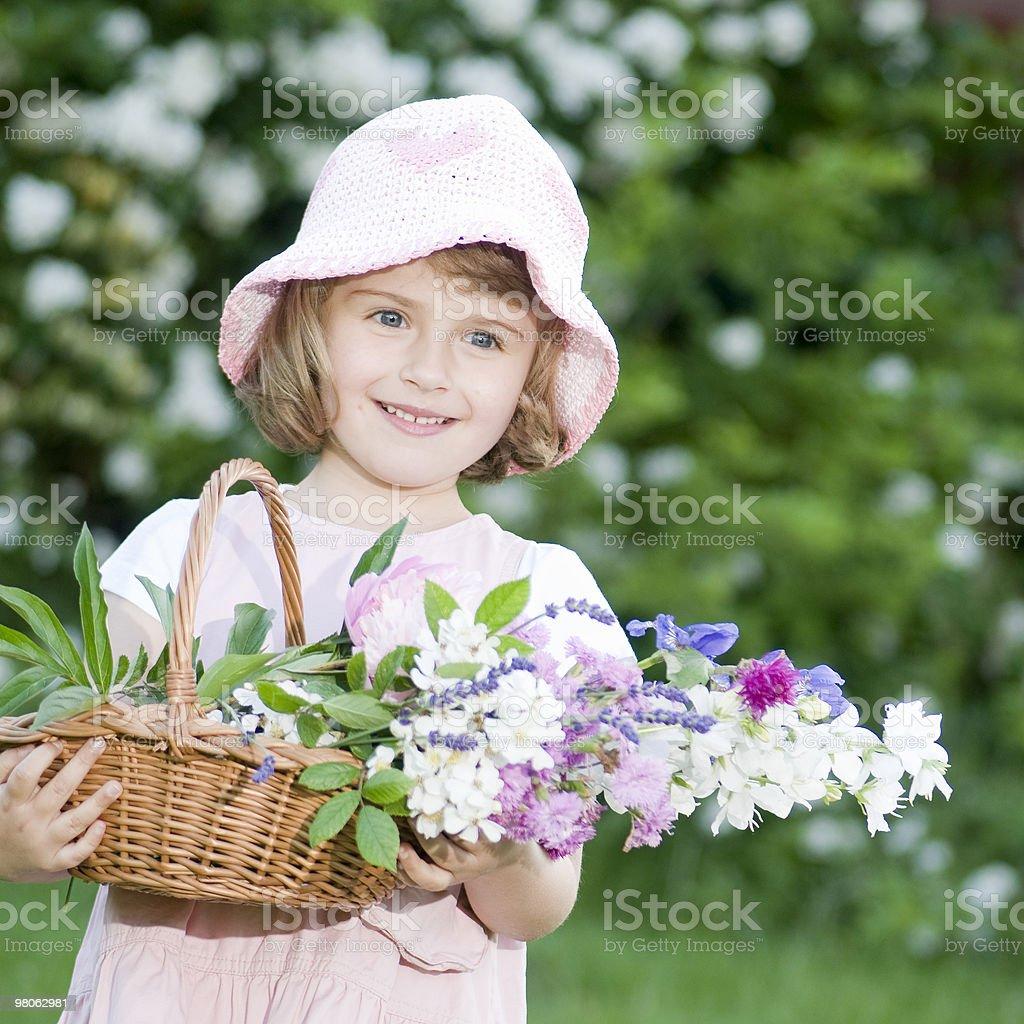 리틀 gardener royalty-free 스톡 사진